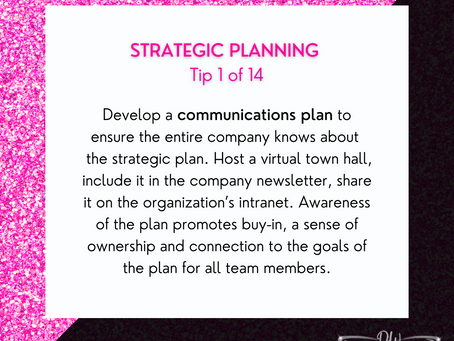 14 Days Of Strategic Planning Tips - Tip #1