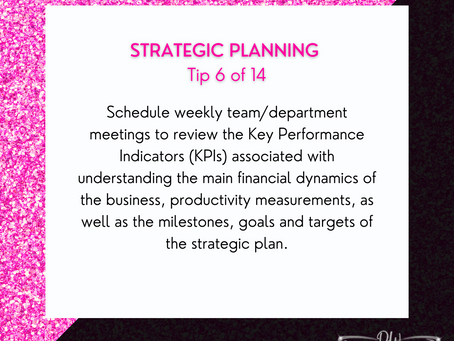 14 Days Of Strategic Planning Tips - Tip #6