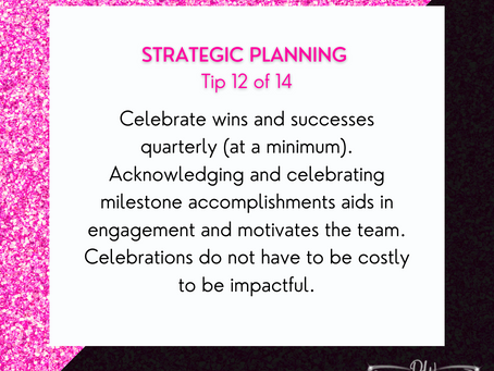 14 Days Of Strategic Planning Tips - Tip #12