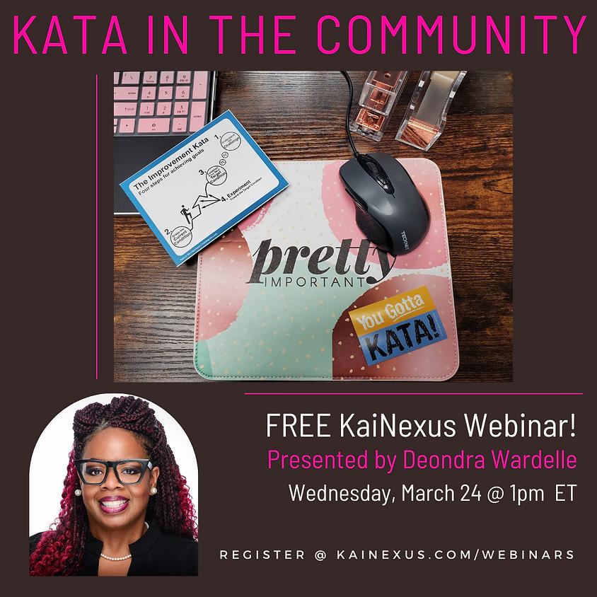 Free Webinar: KATA in the Community