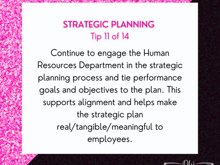 14 Days Of Strategic Planning Tips - Tip #11