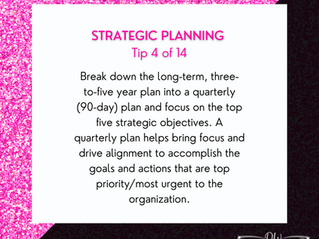 14 Days Of Strategic Planning Tips - Tip #4
