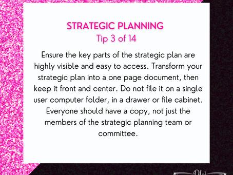 14 Days Of Strategic Planning Tips - Tip #3