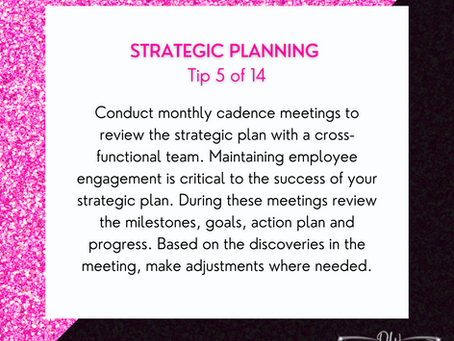 14 Days Of Strategic Planning Tips - Tip #5