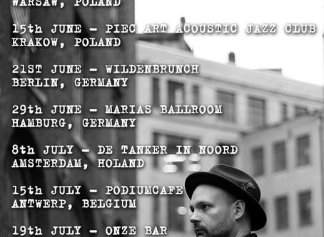 European Tour dates announced