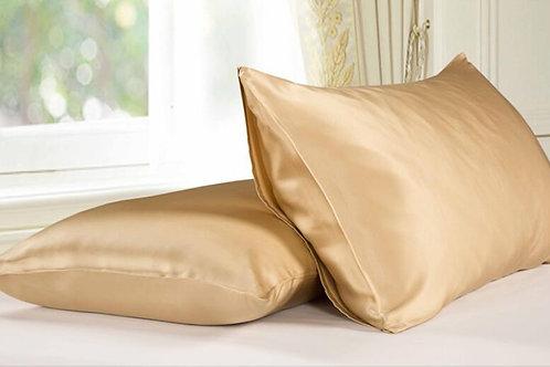 Gold Housewife Silk Pillowcase