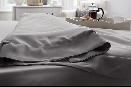 Grey Silk Duvet Cover