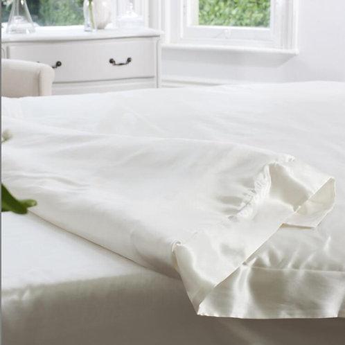 Ivory Silk Duvet Cover