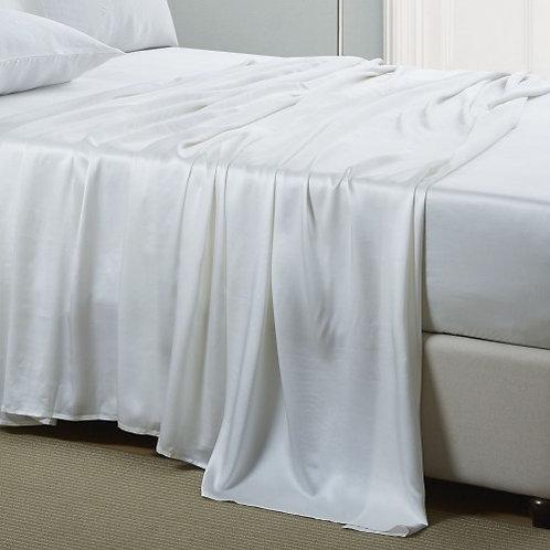 White Silk Flat Sheet