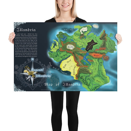 Map of Illandria Poster