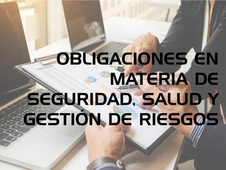 Obligaciones en Materia de Seguridad y Salud