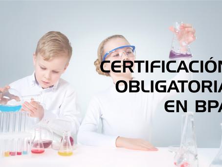Certificación Obligatoria en Buenas Prácticas de Almacenamiento