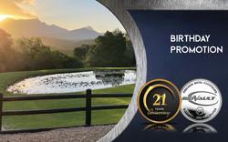 Investgold 21 years birthday promotion
