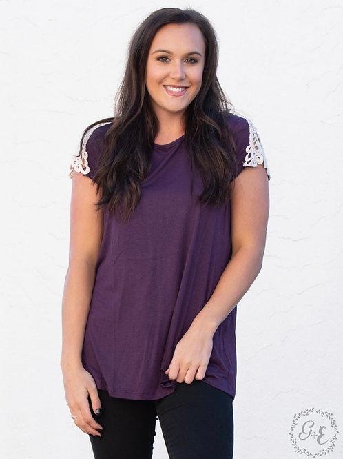 Adeline top-purple