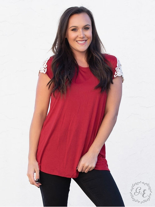Adeline top-holiday red