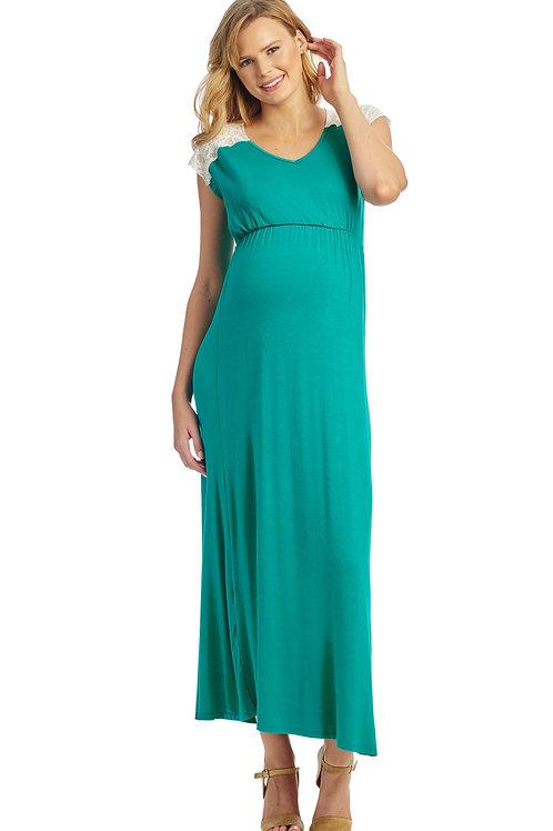 Margaret Maternity Dress (Green)