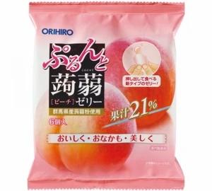 ORIHIRO 蒟蒻水蜜桃味 (20g x 6個獨立包裝)