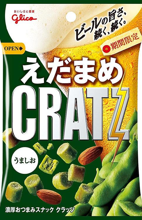 日本Glico 固力果 CRATZ 枝豆味杏仁脆脆麵包粒 42g