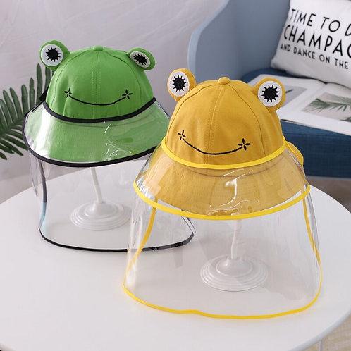 青蛙防疫漁夫帽 (綠/黃/橙) (2-6歲兒童用)