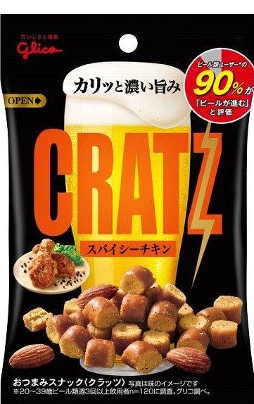 Glico 固力果 CRATZ 香辣烤雞味杏仁脆脆麵包粒 42g