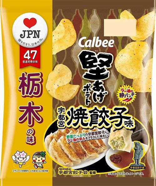 日本CALBEE 卡樂B 櫪木縣 宇都宮餃子味薯片 55g