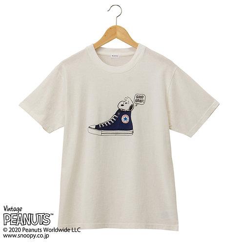日本限定!PEANUTS X CONVERSE優閑T恤(藍鞋)