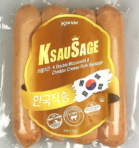 韓國Kpride雙重芝士自然豬肉腸 (約230g)