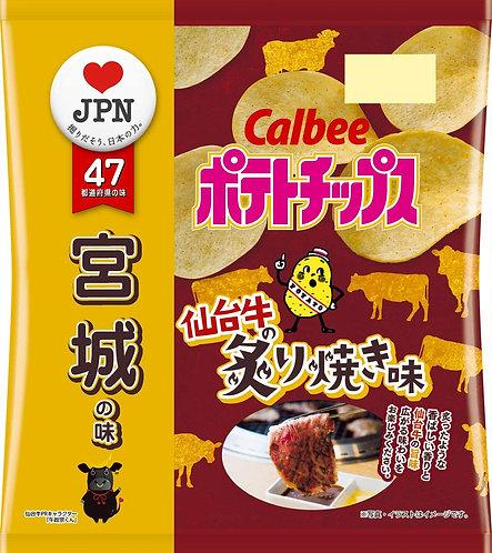 日本CALBEE 卡樂B 宮城縣 仙台牛燒肉味薯片 55g