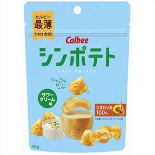 CALBEE 卡樂B 葵花籽油酸忌廉味薄切薯片 (42g)