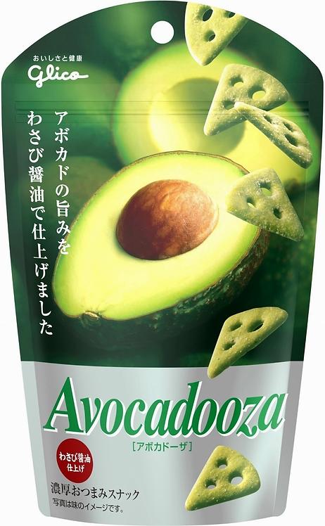 Glico 固力果 牛油果脆片(芥末醬油味) 40g