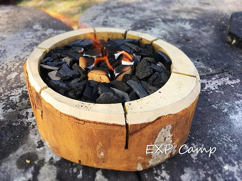 原木製特色碳爐
