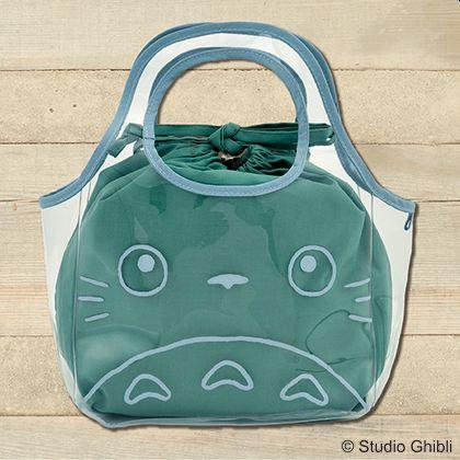 日本郵政限定 龍貓透明防水袋連束口袋 (大)