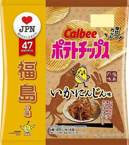 日本CALBEE 卡樂B 福島縣 魷魚蘿蔔味薯片 55g