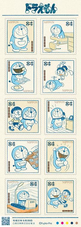 日本郵政限定商品!多啦A夢 漫畫連載50周年主題日本郵票(84円)