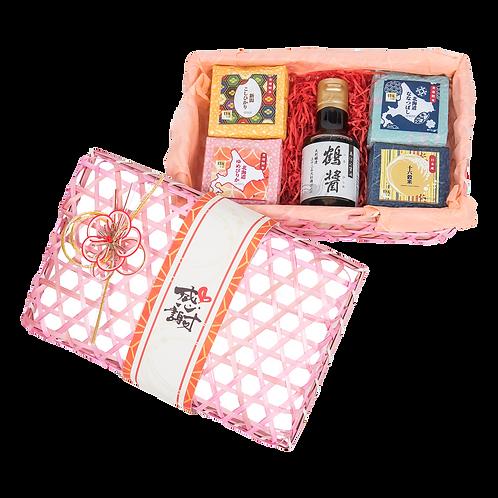 「喜有此米」悅米四角禮盒 (北海道七星、北海道夢美人、新潟越光、十六穀米 + 日本高級醬油「鶴醬」)