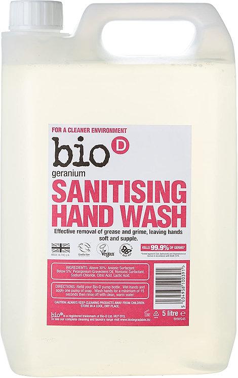 英國Bio-D Sanitising Hand Wash – Geranium (5L) 天竺葵消毒洗手液 (5公升)