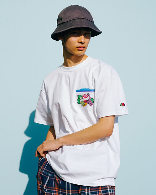日本限定商品Ziploc × FRUIT OF THE LOOM × BEAMS COUTURE  T-Shirt(細LOGO)