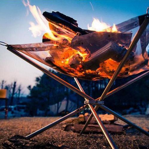 不銹鋼營火會爐 可摺式燒烤爐