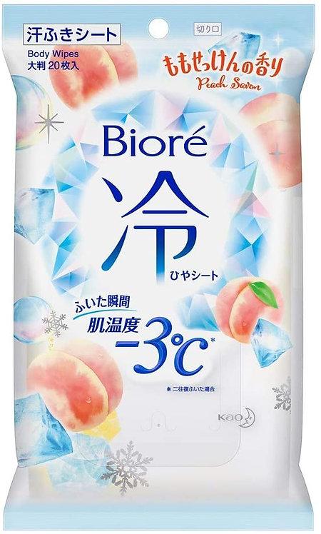 日本BIORE -3℃ 冰涼止汗巾 (20張) 桃香
