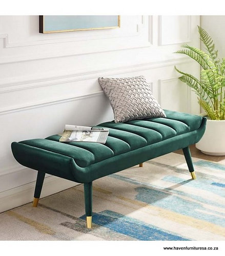 Channel Tufted Bench