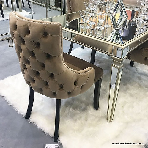 Champagne Tufted Back Dining Chair