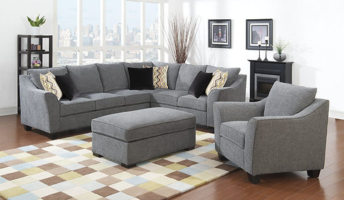 Blanche 2pc Corner with Armchair