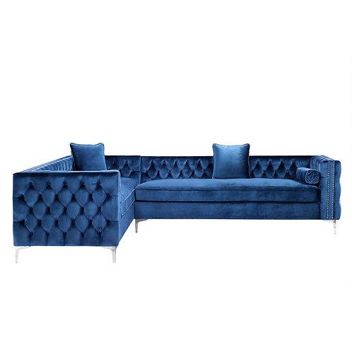 """Dante 120"""" Velvet Corner Sectional Sofa"""