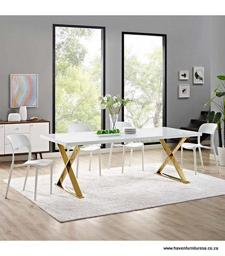 X Frame Base Dining Set
