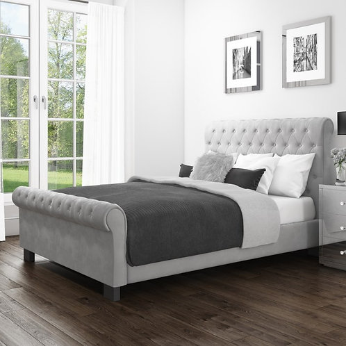 Sarah Roll Top Sleigh Bed