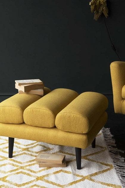 Tweed Footstool
