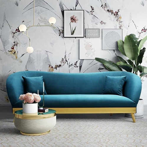 Chloe Velvet Sofa