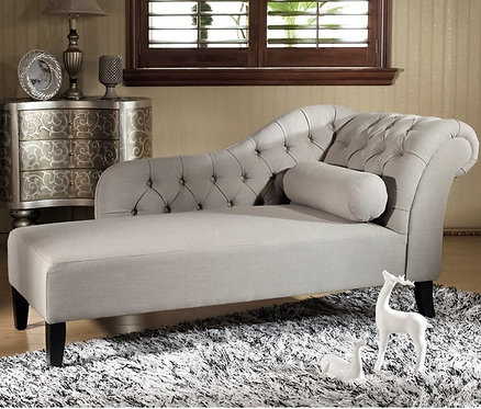 Baxton Studio Tufted Chaise Lounge