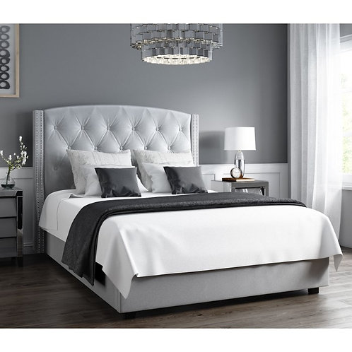 Leona Wing Back Ottoman Bed