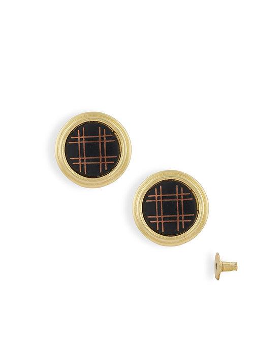 Button Rim Earring